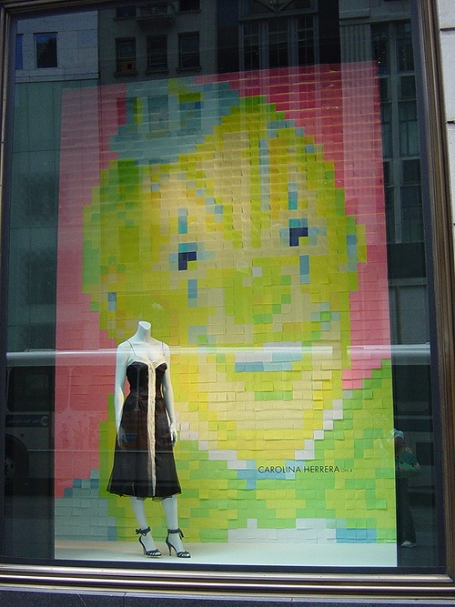 Fashion Window Post-it Background from Buzzfeed on Art is Everywhere