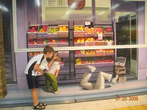 1_Trompe l'oeil mural via Silent I, as seen on Art Is Everywhere
