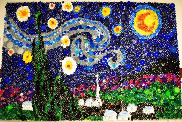 Shutterstitch_Starry Night as seen on Art Is Everywhere blog