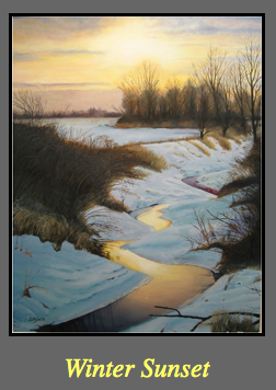 Steve Myles_Winter Sunset on Art Is Everywhere