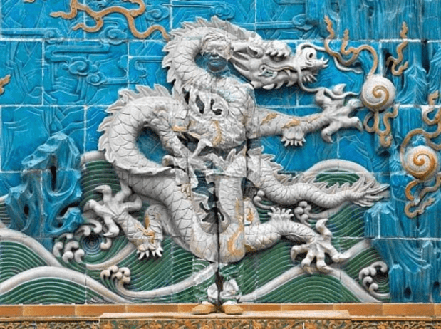 Liu Bolin - Chinese Dragon, as seen on Art Is Everywhere