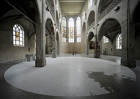 Motoi Yamamoto Salt maze as seen on Art Is Everywhere