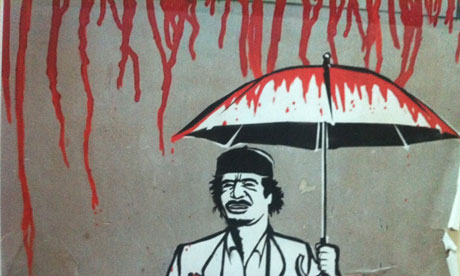 Pent up rage seen in Libyan graffiti, via the UK Guardian, seen on ArtisEverywhere
