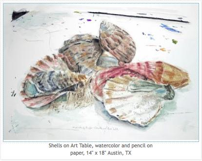 Nick Swift_Shells on Art Table via Nick Swift, as seen on Art Is Everywhere