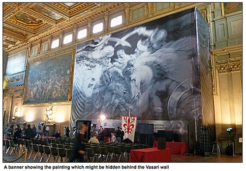 Leonardo mural via mail online, as seen on Art is Everywhere