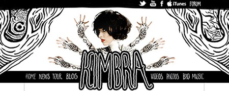 Kimbra website as seen on Art Is Everywhere