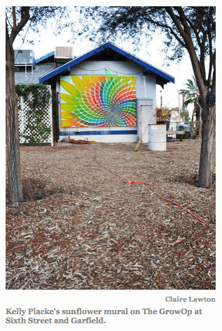 Kelly Placke_sunflower mural_via Phoenix Times, as seen on Art Is Everywhere