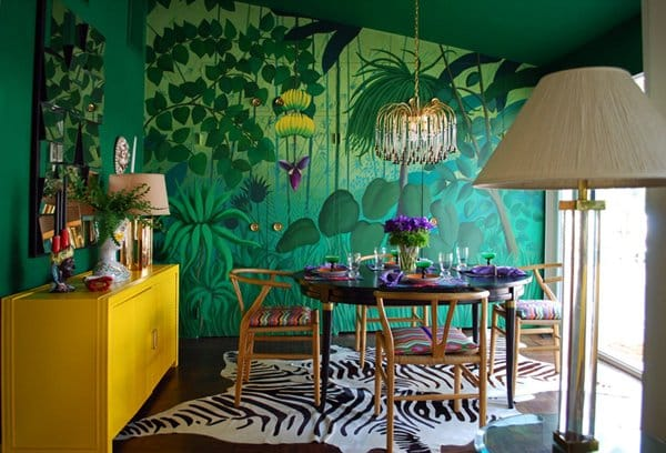 Tropical mural_via PWstyle, as seen on Art Is Everywhere
