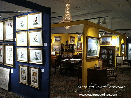 Arader Galleries booth. Photo from Slipcovers for your walls blog, seen on Art Is Everywhere