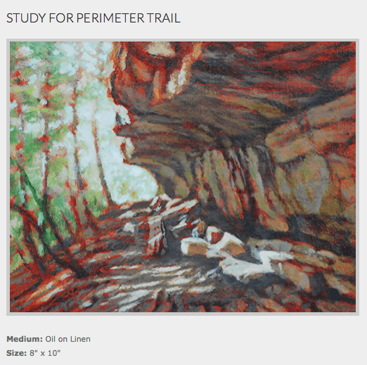 Study for Perimeter Trail by Tony Winters on Art is Everywhere