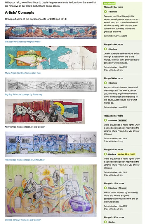 Laramie Mural Project - Kickstarter on Art Is Everyhwere