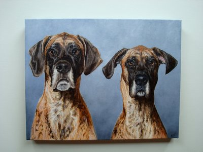 Pet Portrait Process via Allover Art on Art Is Everywhere