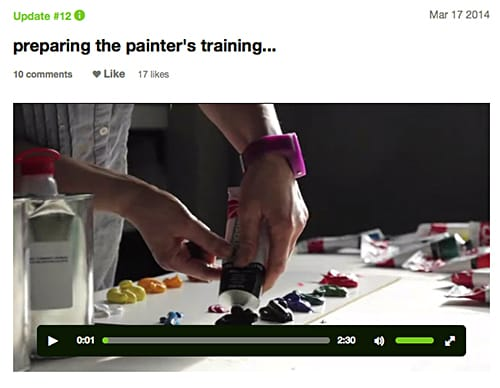 Prepairing for painters' training on Art Is Everywhere