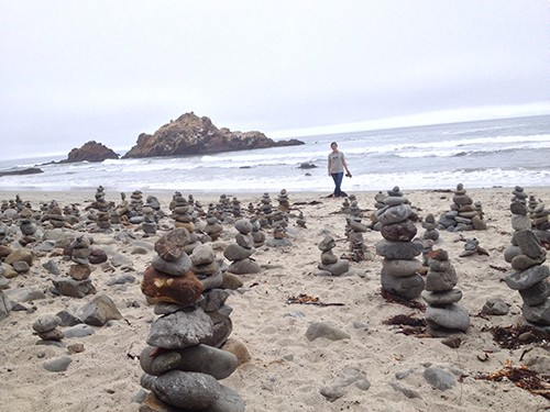 man-made cairns on Art is Everywhere, AIE blog