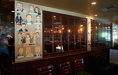 Palm Restaurant celebrity murals via Eater on Art is Everywhere