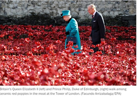 Queen Elizabeth and Poppies_on Art is Everywhere