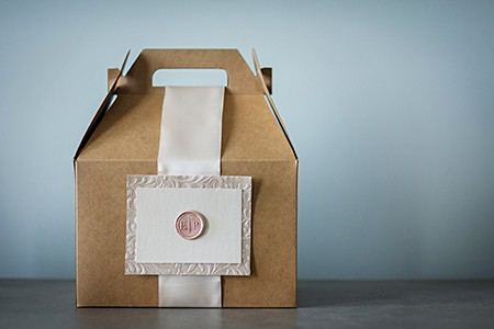 Wedding Welcome boxes on Art Is Everywhere