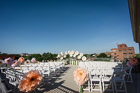 Ceremony venue atop the Lorien Hotel