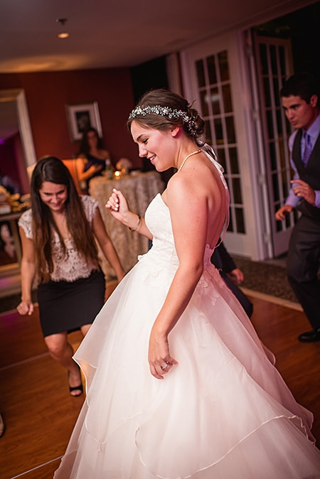 The bride gets down