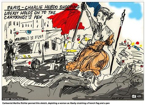 Charlie Hebdo cartoon reaction 6 on Art Is Everywhere