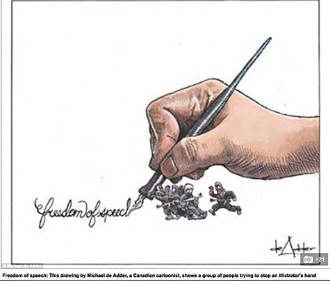 Charlie Hebdo cartoon reaction 4 on Art Is Everywhere