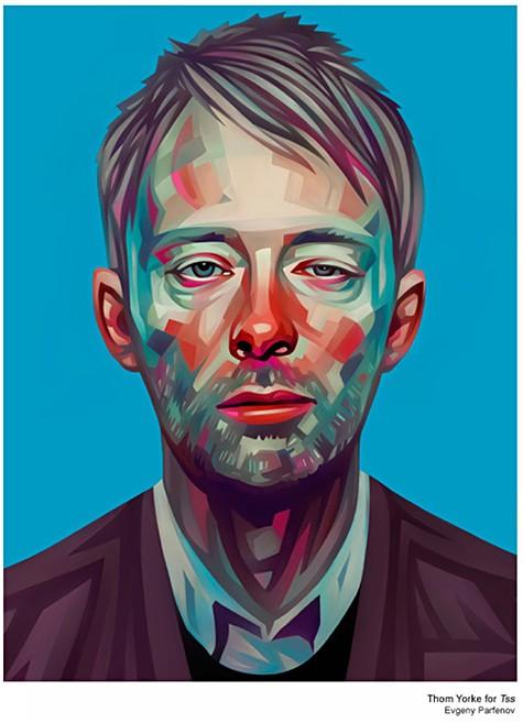 Tom Yorke Portrait by Evgeny Parfenov on Art Is Everywhere