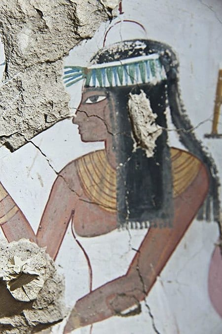 Egyptian Mural Detail on Art Is Everywhere