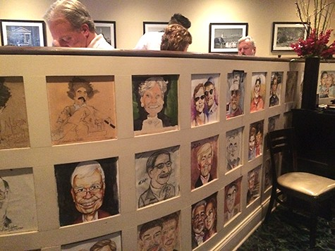 Warehouse restaurant caricatures 1 on Art is Everywhere
