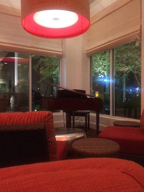 Hilton lobby sitting vignettes on Art Is Everywhere