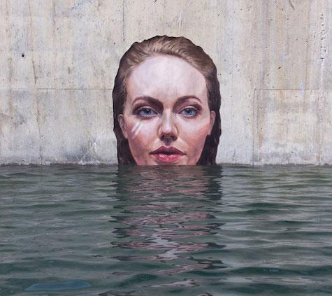 Hula Street Art Portrait 2 on Art Is Everywhere