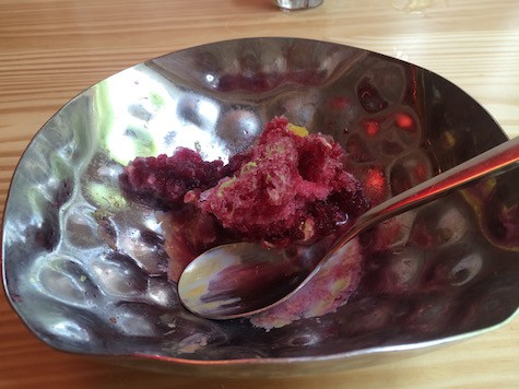 Shaved Blackberry Ice at China Chilcano on Art Is Everywhere