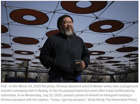 Ai Weiwei via Washington Post on Art Is Everywhere