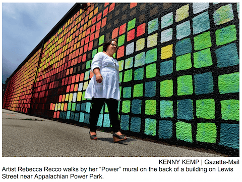 Power Mural Update_Charelston Gazette Mail on Art Is Everywhere