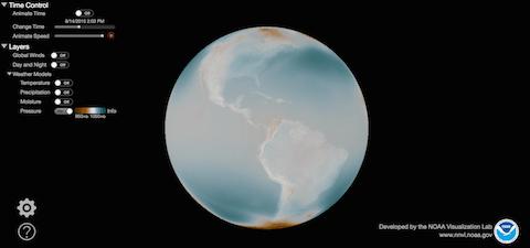 NOAA_interactive global weather map via NOAA Environmental Visualization on Art Is Everywhere