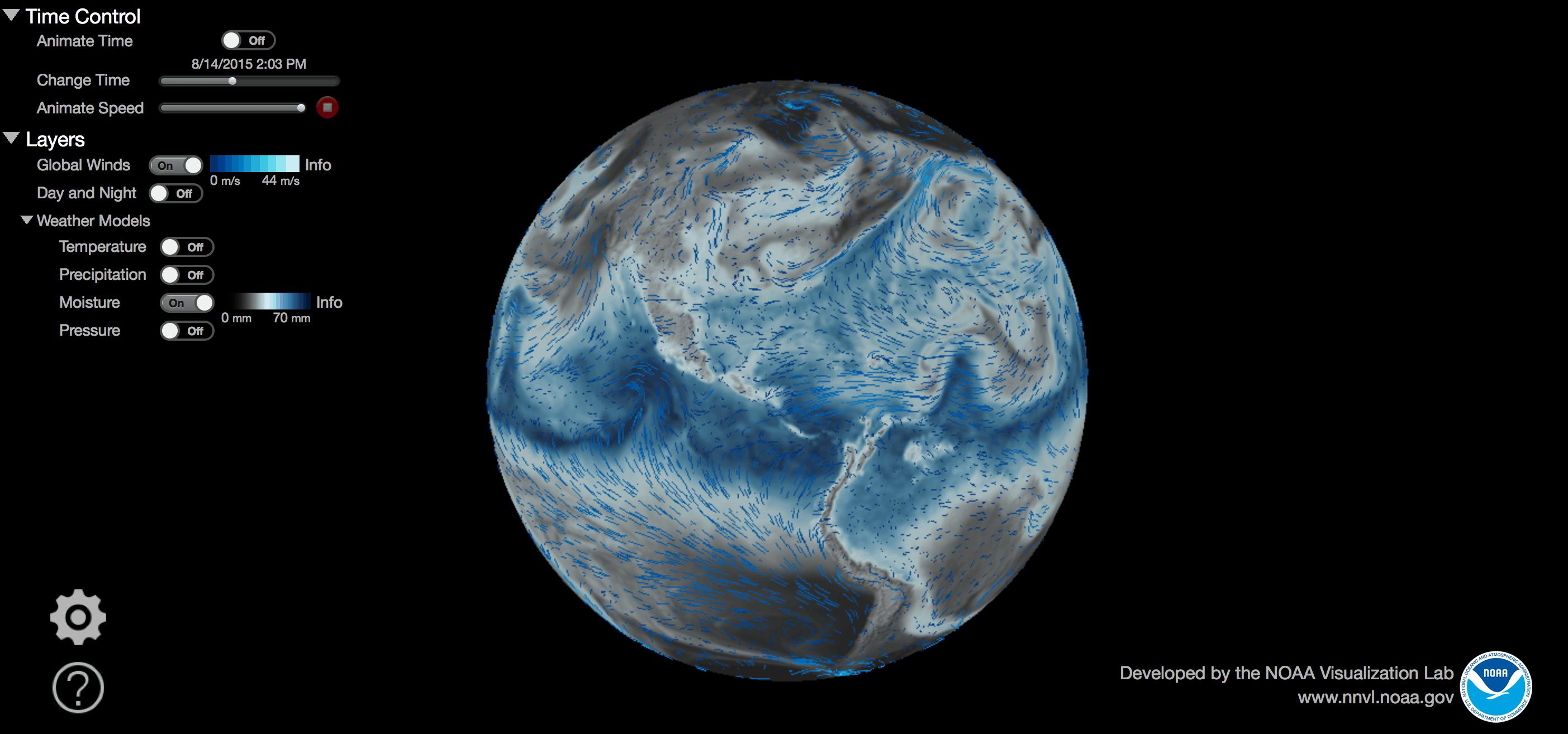 NOAA_global weather moisture on Art Is Everywhere