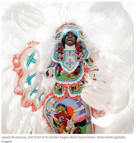 Mardi GMardi Gras Indian via Getty Images__on Art Is Everywhere