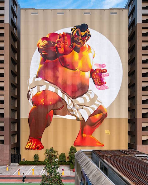 Sumo wrestler by Case Maclaim Pow Wow Japan on Art is Everywhere