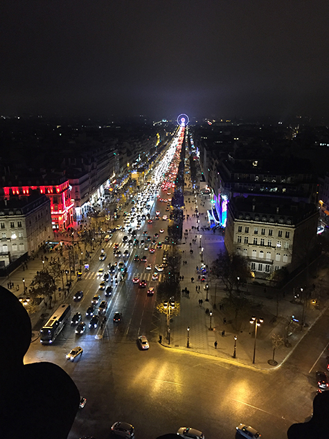 View of the electric Champs Élysées on Art Is Everywhere