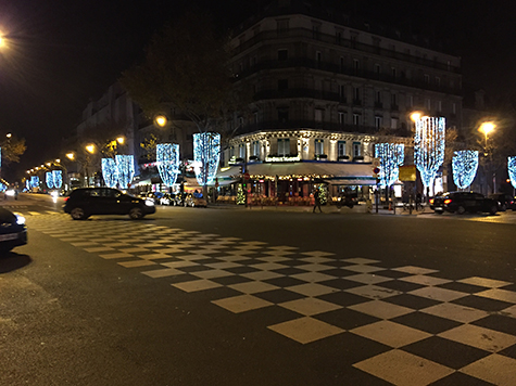 Torch-like street lights make the streets festive in Paris on Art Is Everywhere