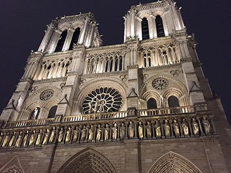 Notre Dame at night on Art Is Everywhere