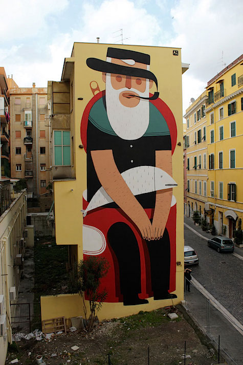 Agostino Lacurci mural_via juxtapoz on Art Is Everywhere