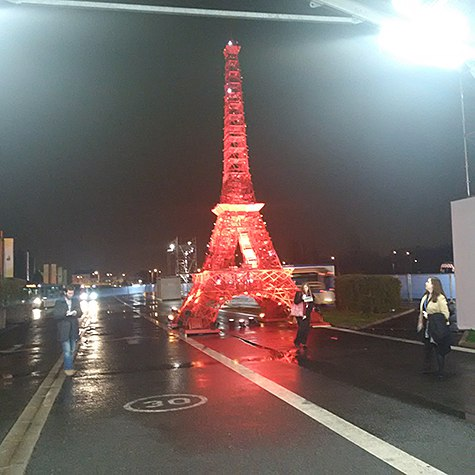 Miniature Eiffel Tower in Red on Art Is Everywhere