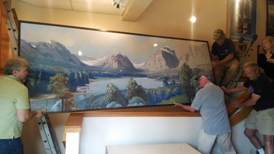 size of Glacier Mural panels on Art Is Everywhere