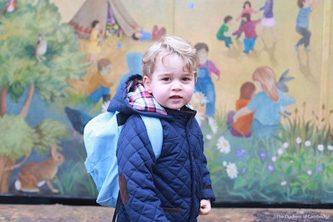 Prince George attends school 1