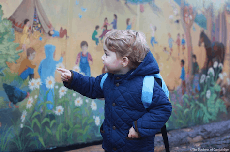 Prince George attends school 2_