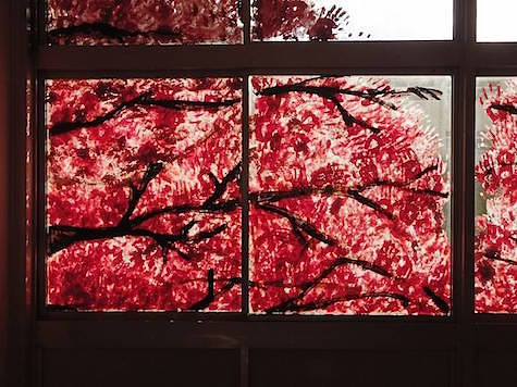 Hand Painted Cherry Blossom photos via Fubiz 3