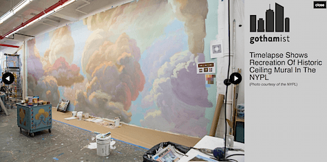 Cloud Mural_NewYork Public Library_Art Is Everywhere