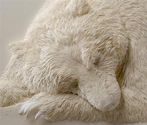3_Paper Sculpture Calvin Nichols_bear_AIE