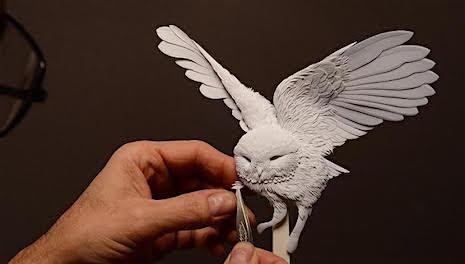 6_Owl_Paper Sculpture Calvin Nichols_AIE