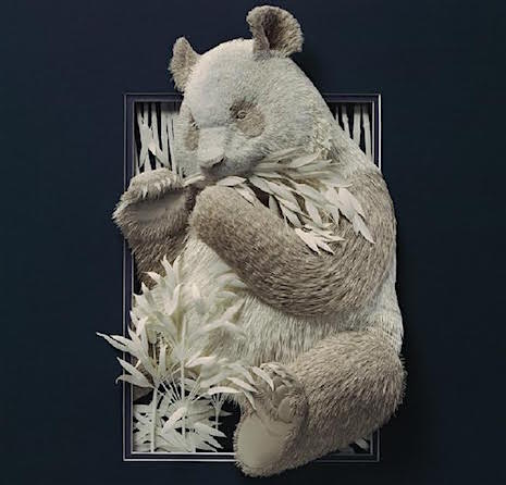 Bamboo Bear_Paper Sculpture Calvin Nichols_AIE
